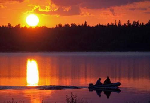 Ловля рыбы на вечерней зорьке