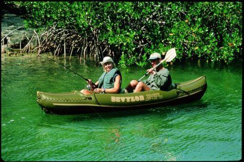 Ловля рыбы с двухместного каяка
