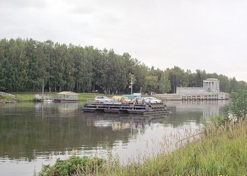 Место активного судоходства на водоеме