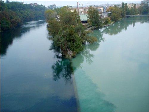 Место соединения двух рек