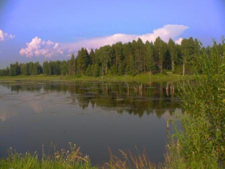 Небольшое озеро на территории европейской части России