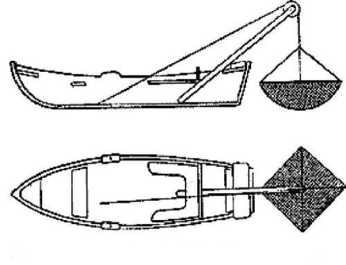 Малявочник с подъемником для ловли живца