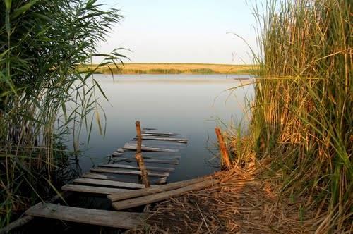 Старое подготовленное место для рыбалки