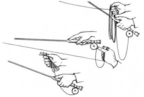 Способы укладки шнура в руке