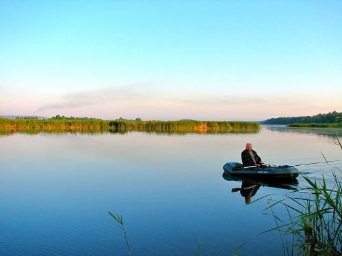 Почти идеальная тишина на водоеме