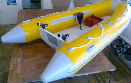 Надувная лодка для рыбалки из ПВХ