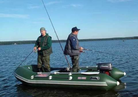 Резиновая лодка для рыбалки