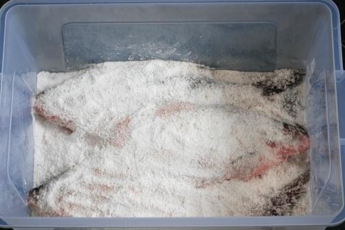 Засолка подготовленной рыбы