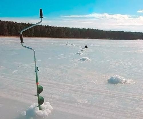 Стандартный бур для бурения лунок во льду