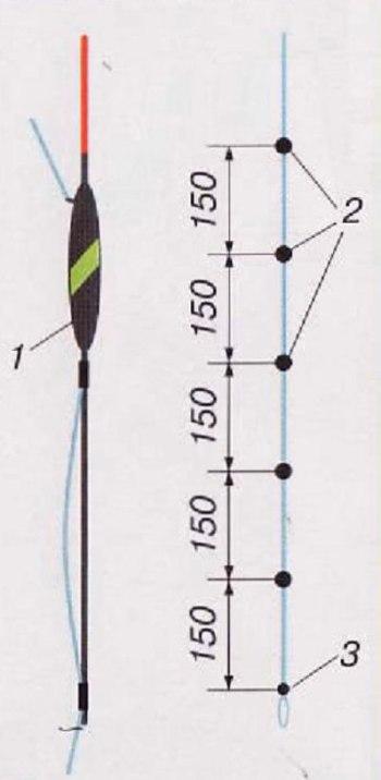 Монтаж огрузки при ходовой ловле