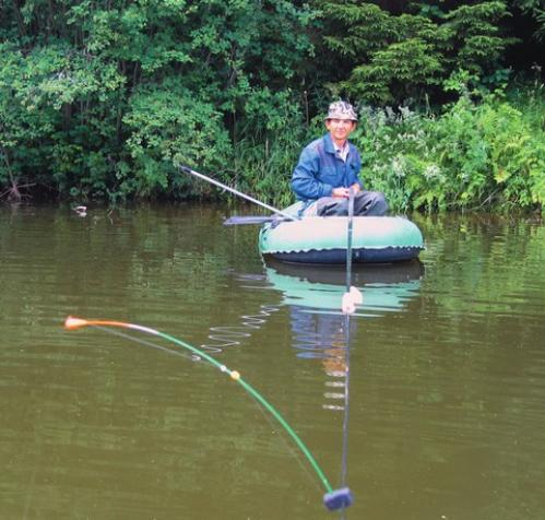 Ловля на боковой кивок с лодки