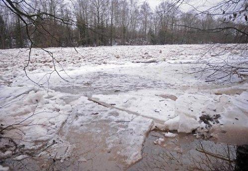 Повышение уровня воды в период таянья снега