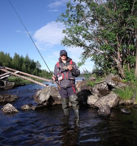 Рыбалка на быстром течении выше порога