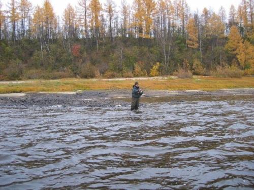 Рыбалка на неглубоких перекатах с быстрым течением