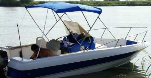 Стеклопластиковый катер для рыбалки