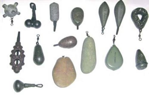 Грузила разных форм и размеров