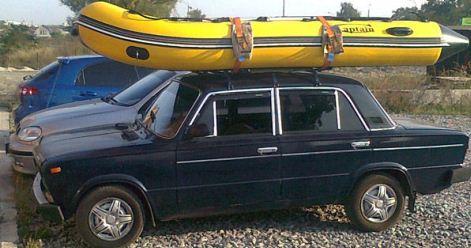 Транспортировка надувной резиновой лодки