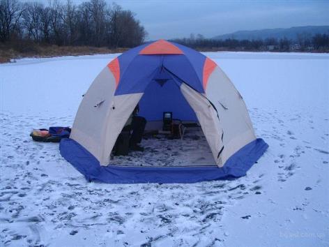 Палатка с местом для обогревателя