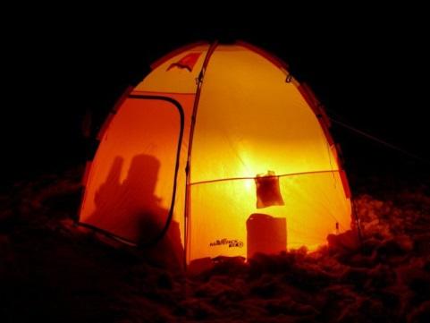 Свет в палатке для рыбалки