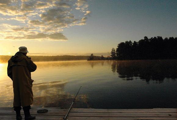 Выбор места для рыбалки: осмотр территории