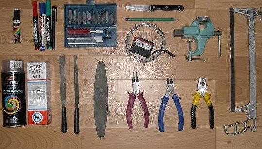 Набор инструментов для изготовления воблера