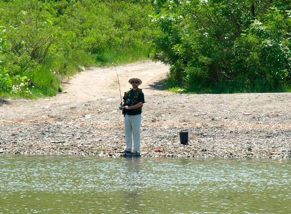 Прекрасная погода в период летней рыбалки на Дону