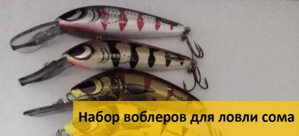 Набор воблеров для ловли сома