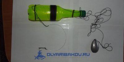 ловим живца на бутылку