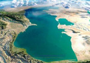в северной части Каспийского моря.